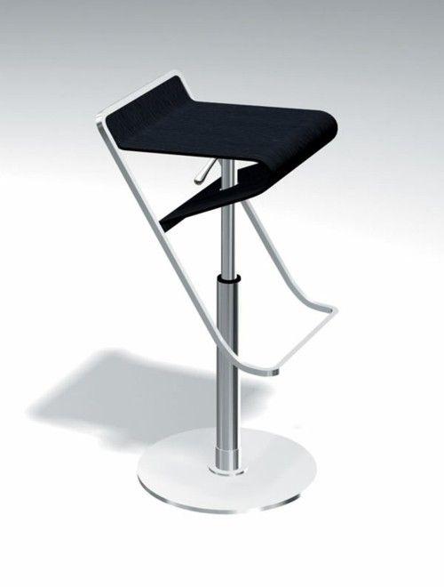 Ergonomic stool designs with lean Black seat plate
