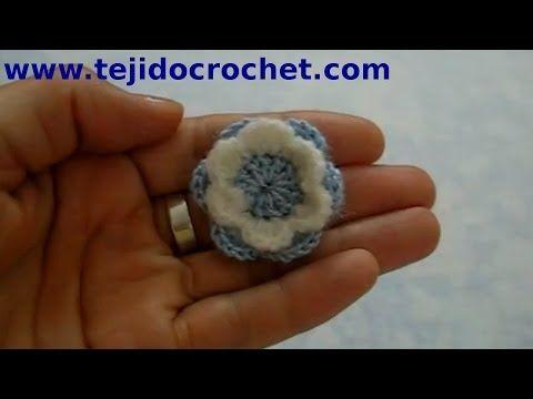 Escarapela Argentina Flor en tejido crochet tutorial paso a paso.