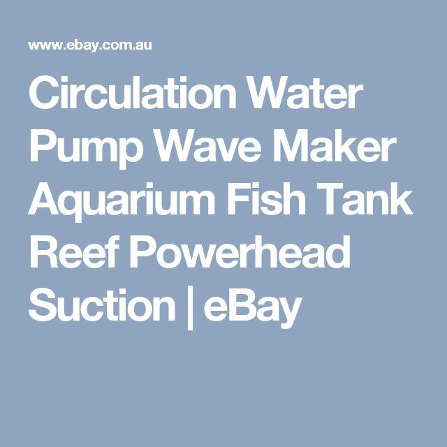 Circulation Water Pump Wave Maker Aquarium Fish Tank Reef Powerhead Suction  | eBay