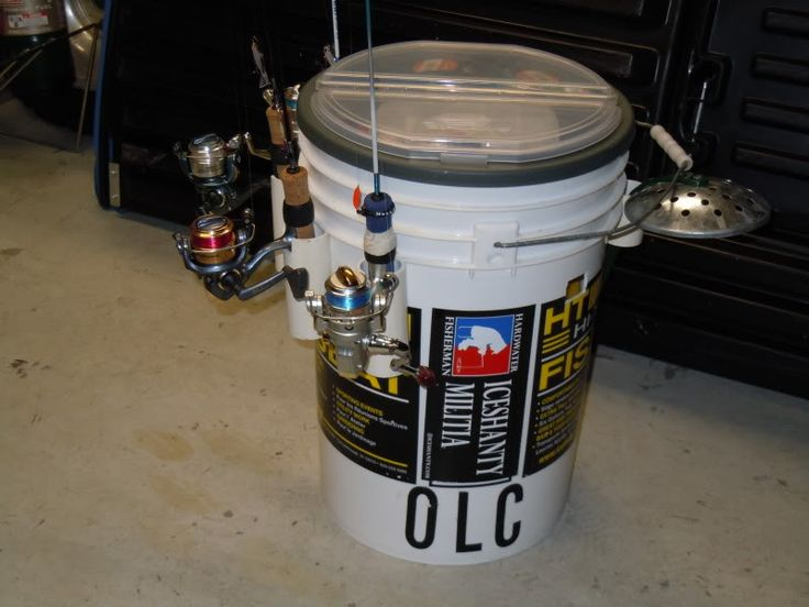 1000 images about ice fishing ideas on pinterest for Ice fishing bucket