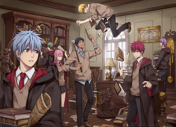 Generation of Miracles - If they were from Hogwarts (Kuroko no Basket)