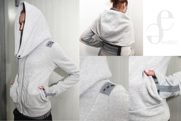 grey jumper by Emilia Sikorska www.emfaso.com
