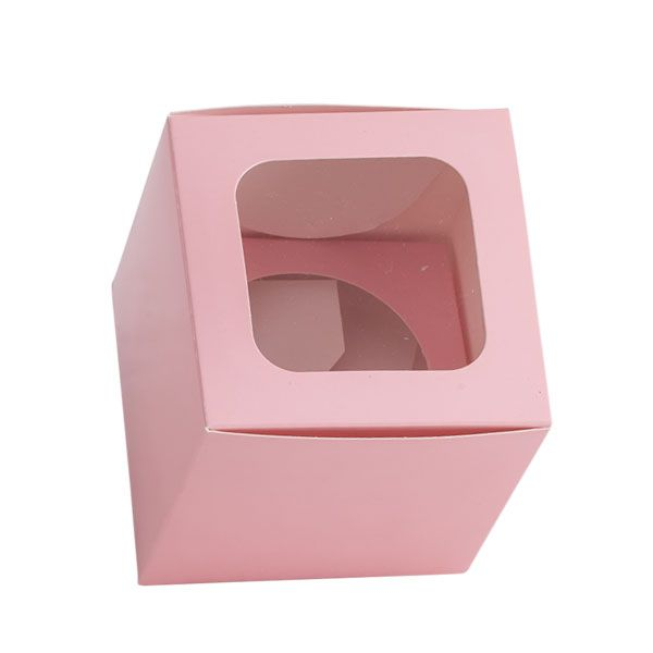 Bomboniere Single Cupcake Box w Window