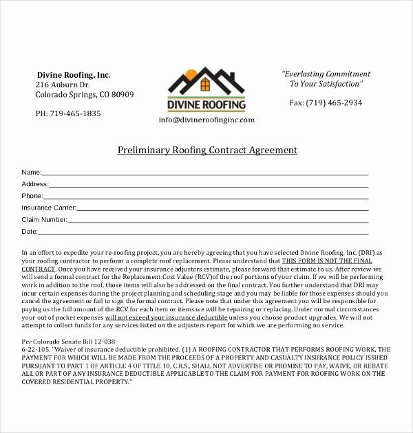 50 Awesome Free Residential Roofing Contract Template In 2020