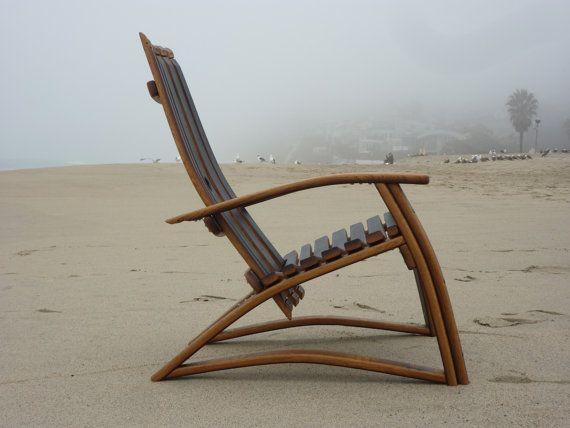 Chaise de douve de tonneau de vin chaise outdoor tonneau de vin tonneau et mobilier de salon - Chaise bois flotte ...