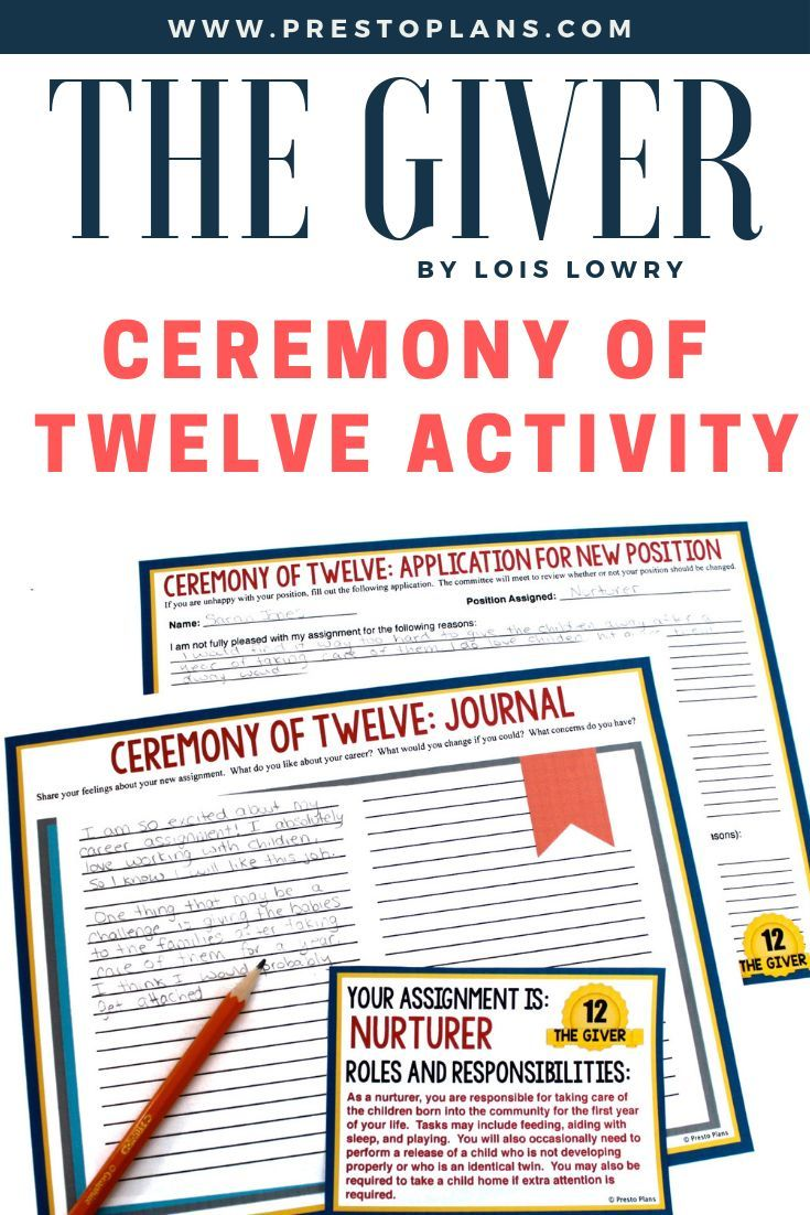 Giver Ceremony Of 12 Activity Guided Reading Activities Common