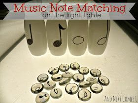 Music Note Matching on the Light Table from And Next Comes L