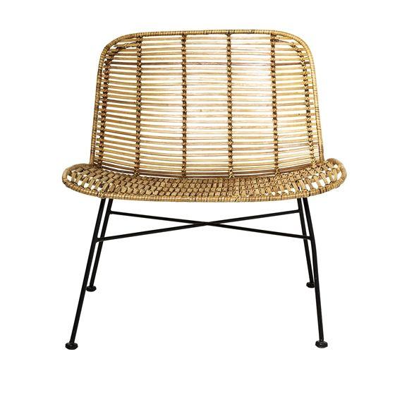 Dom Rattan Chair, Nature w/Black