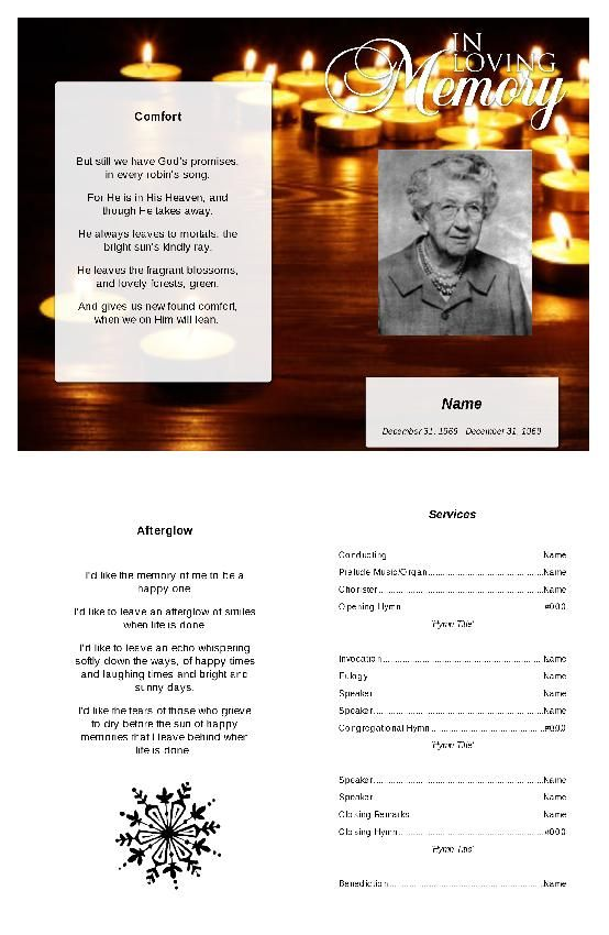 15 best free funeral program images on Pinterest Christmas - free funeral template