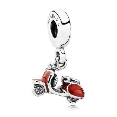 Roter Roller, Charm mit Anhänger von PANDORA ❤❤❤❤❤