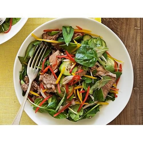 Thai beef salad recipe - By Real Living, Light, fresh and packed full of flavour, this delicious Thai beef salad is a classic Asian dish, perfect for a healthy lunch or dinner. #thai #beef #salad