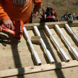assembling balusters for front porch railings