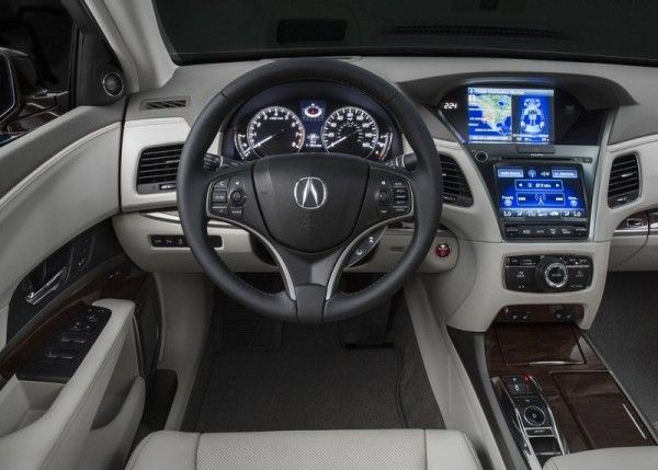 2014 Acura RLX Sport Hybrid Cockpit 600x429 2014 Acura RLX Sport Hybrid Full Review with Images