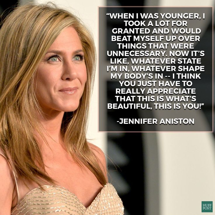 Jennifer Aniston talks about accepting your own beauty. This is seriously why she's a major girl crush.