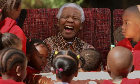 Mandela and the little children