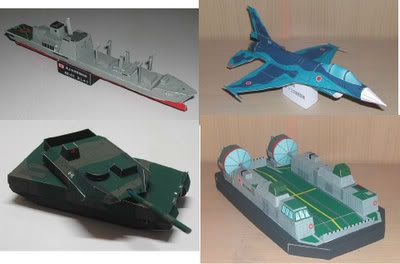 Japanese Army Vehicles - by Ministry Of Defense Kids Site  Easy to build models by Japanese Ministry of Defense.
