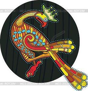Motley Ornamental Celtic Bird