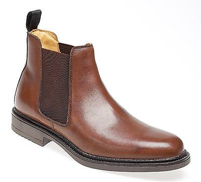 Mens brown #leather #chelsea #ankle dealer boots new in box uk size 9, View more on the LINK: http://www.zeppy.io/product/gb/2/181929821383/