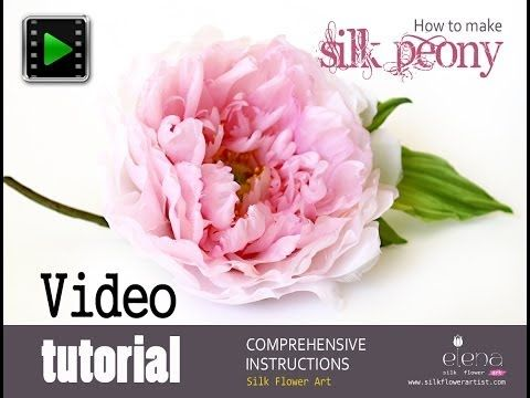 How no make silk flowers - Silk peony video tutorial - YouTube