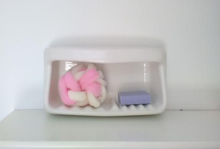 Portasapone vintage - portasapone porcellana bianco - Portasapone doccia ad incasso bianco - Arredo bagno -portasapone vasca da bagno bianco di VintaFai su Etsy