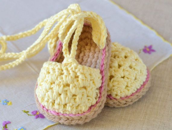 CROCHET PATTERN Baby Sandals Buttercup Espadrille Baby Sandal Easy Beginner Pattern PDF Instant Download
