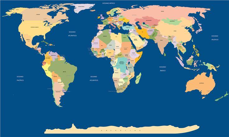 Mapa Mundi com nome de todos os paises e capitais                                                                                                                                                                                 Mais