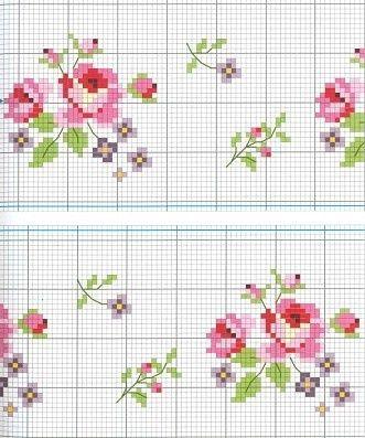 roses cross stitch c294fb14af59a14e1720ed8a862e2bda.jpg (331×397)
