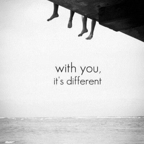 With you, it's different.....KRI****INDU