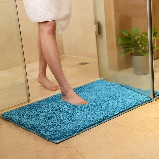 Chenille Bathroom Carpet Mat Bedroom Floor Mat Rug Anti-slip Doormat Rug