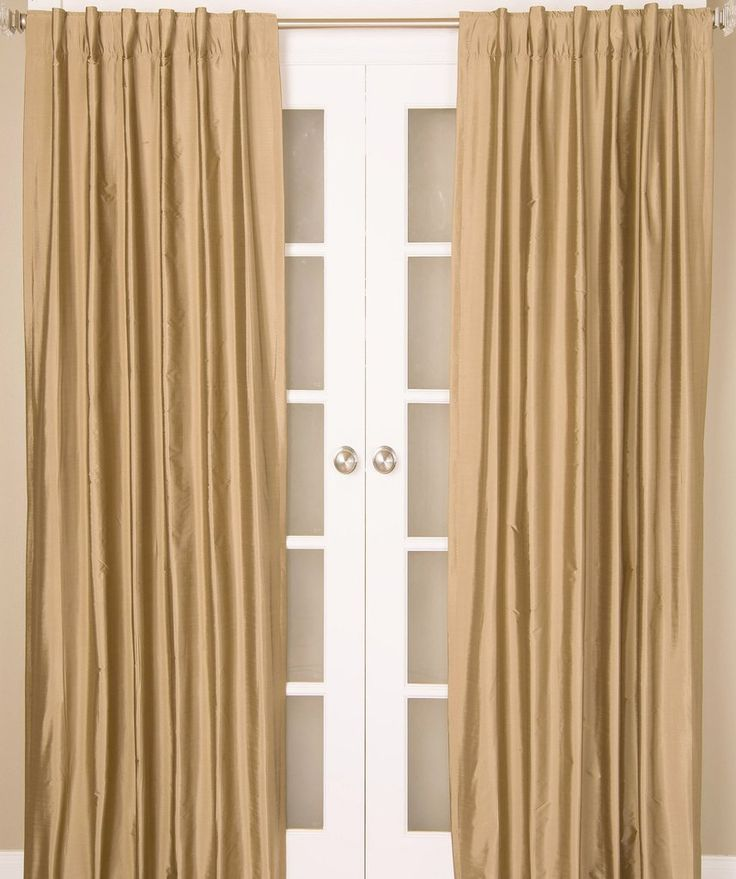 #1P550 Champagne Colors Faux Silk Curtain (Use Discount Code) YOU PAY 1/2 DOWN