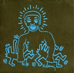 Rare Vinyl Record Art (After Keith Haring)