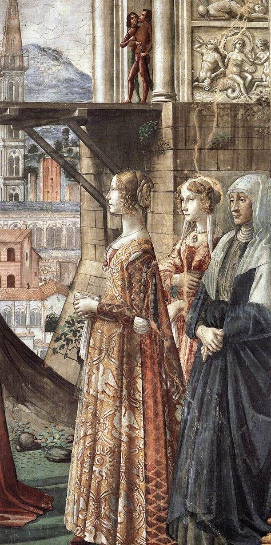 DOMENICO GHIRLANDAIO (1449 - 1494) - Visitation, detail - 1486/90. Fresco | Cappella Tornabuoni, Santa Maria Novella, Florence.
