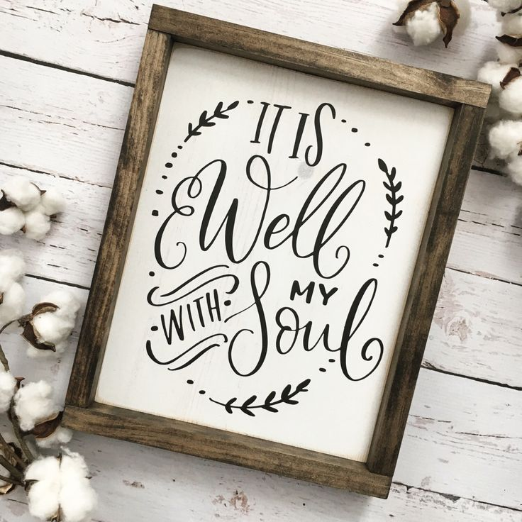 It is Well with my Soul Sign, Spiritual Sign, Bible Verse Sign, Inspirational Art, Farmhouse Sign, Rustic Wood Sign, Gallery Wall, Wood Sign by CoastalCraftyMama on Etsy https://www.etsy.com/listing/492783608/it-is-well-with-my-soul-sign-spiritual