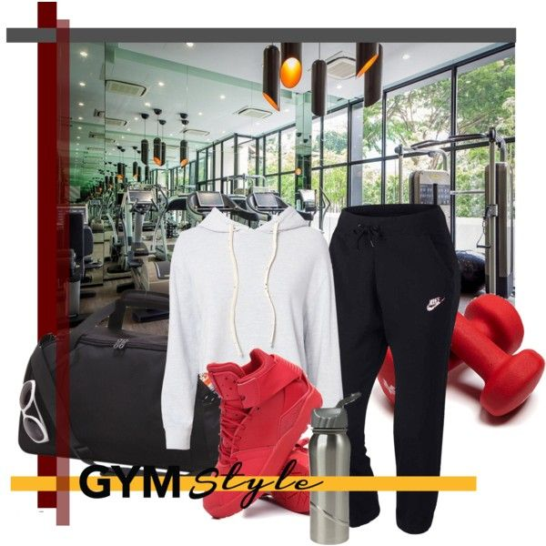 Burn that Fat by revinaangela on Polyvore featuring Monrow, NIKE, adidas, Goodhope Bags, gymstyle, summer2017 and forsummerbodygoals