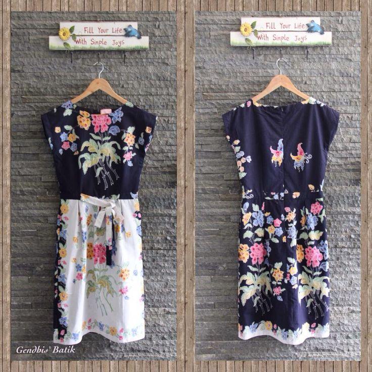 Batik Dress. Encim pekalongan halus + lining tricot halus (595K) by Gendhis's Batik. You can find her collection Amelia Gendhis on FB