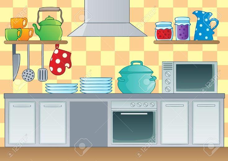 cartoon kitchen - Google Search