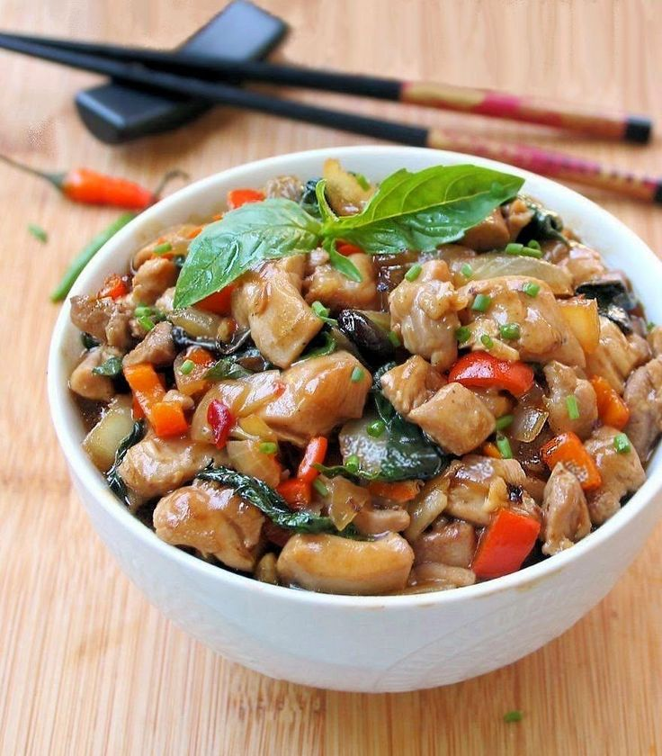 194 best thai food images on pinterest asian food recipes asian inspired edibles thai basil chicken gf not exactly authentic but close i wouldnt use cornstarch in my thai food forumfinder Choice Image