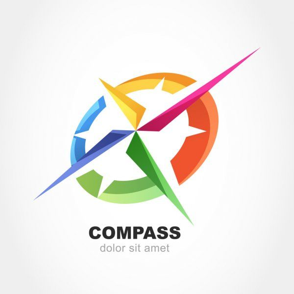 Simbolo Abstrato De Bussola Multicolor Modelo De Design De Logotipo De Vetor Ilustracao De Stock Em 2021 Vetores Design De Logotipo Modelo De Design De Logotipo