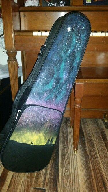 Galaxy painted violin case