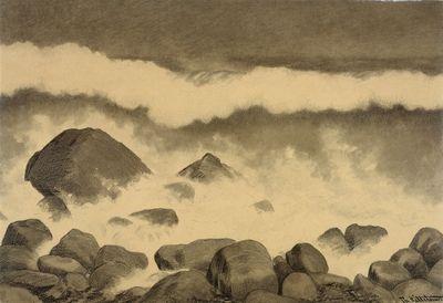 Theodor Kittelsen, «Rullesteiner i skumsprøyt»