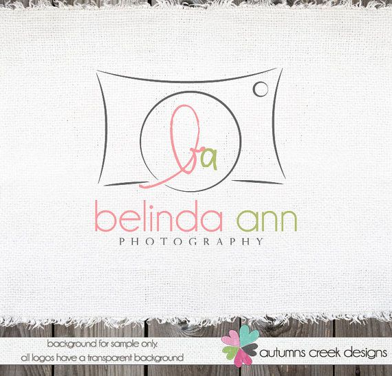 Photography Logo - Premade Camera Logo and Watermark Logo Design for photographers Name Text Logo
