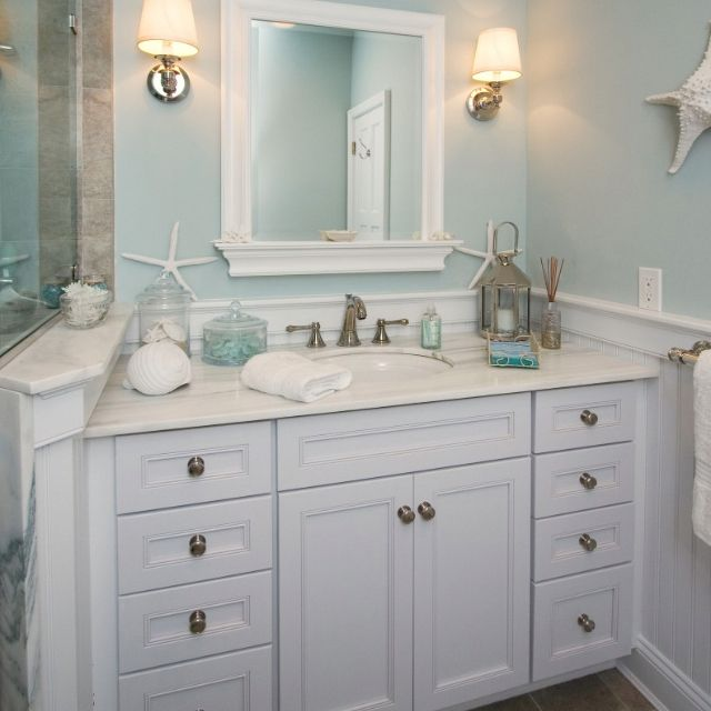Small Bathroom Ideas Beach Theme: 17 Best Ideas About Bathroom Vanity Decor On Pinterest