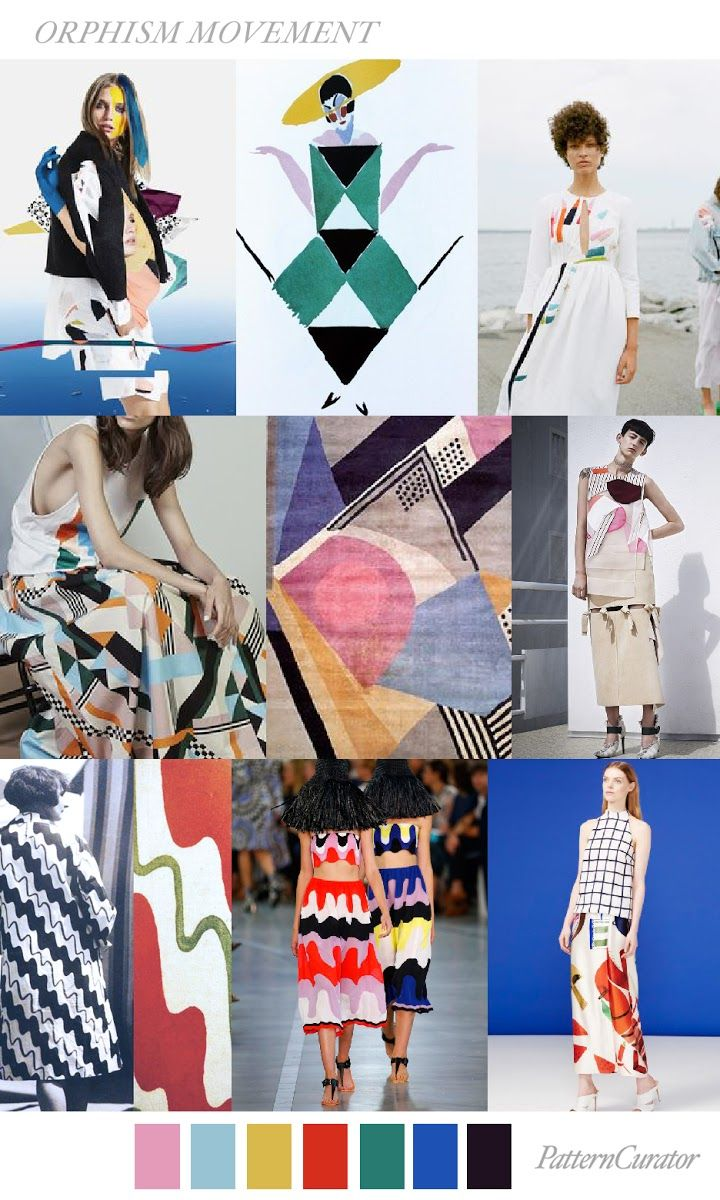 trends pattern curator color print