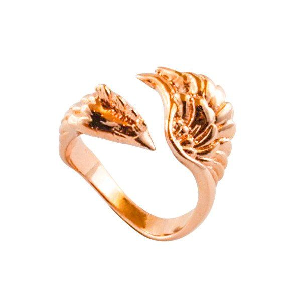 Monvatoo London Rose Gold Phoenix Ring @thepommier.com
