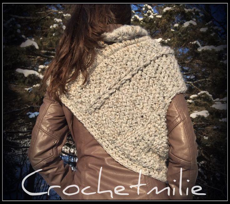 Crochet asymmetric cowl  www.etsy.com/shop/crochetmilie