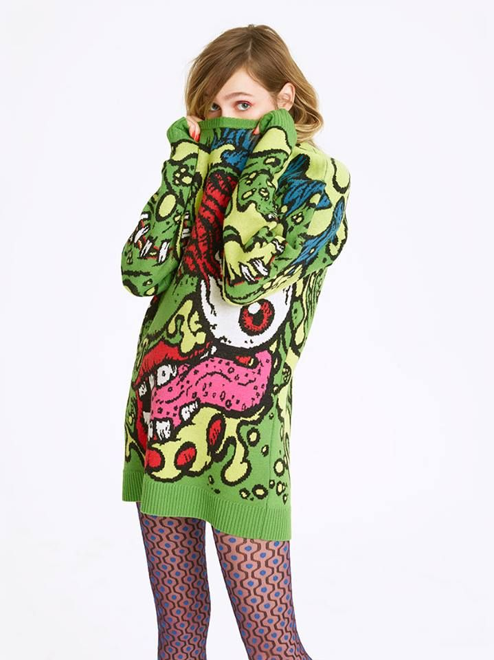 Jeremy Scott's fall '14 collab with Madballs, modeled by Stella Maxwell and Staz Lindes!