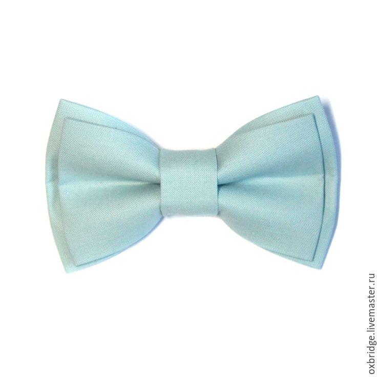 Купить Галстук бабочка Ледяная мята / Бабочка галстук /Бабочка светло-голубая