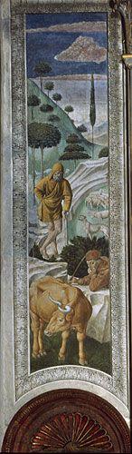 Benozzo Gozzoli - 'La veglia dei pastori'  - affresco - 1459-1461 - Cappella dei Magi - Palazzo Medici Riccardi Firenze
