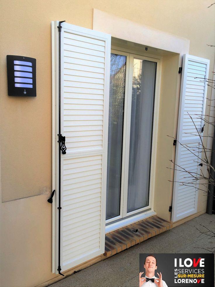 #Réalisation Porte-Fenêtre #PVC marier à son volet battant PVC lames jointives. #Lorenove #i❤Lorenove @thiebautindustrie @ilovelorenove