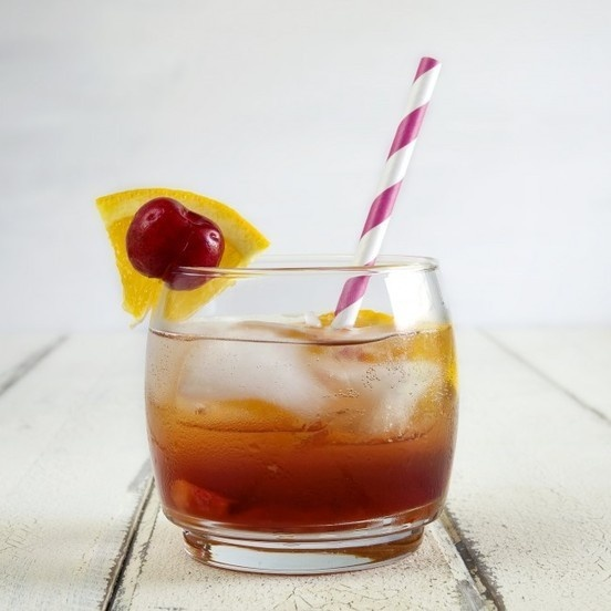 Cherry Infused Bourbon Old Fashioned - Munchin with Munchkin